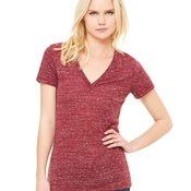 Bella Canvas Ladies Slim Fit Deep V-Neck Jersey Tee